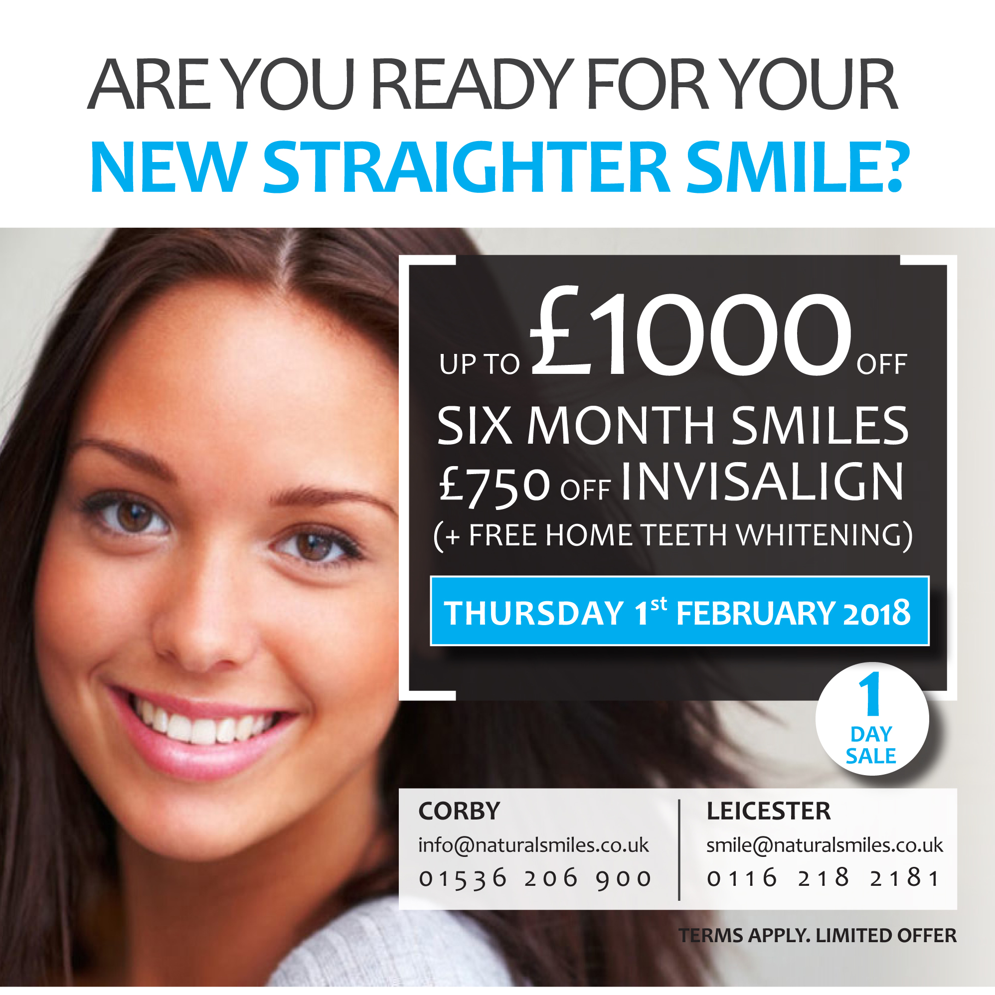 Up to £1000 OFF - 1st February 2018 - NaturalSmiles